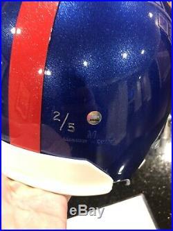 Eli Manning Autographed Football Helmet with RARE Play Inscription. Steiner COA
