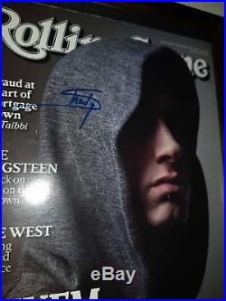 Eminem Hand Signed With Coa Rare Framed Autographed Rolling Stone Magazine