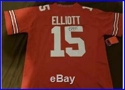 Ezekiel Elliott Authentic Nike Autographed Ohio State Jersey with JSA Coa