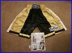 Floyd Mayweather signed shorts/trunks with COA Boxing