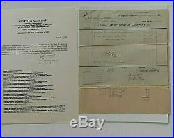 Frank Lloyd Wright Signed Early Receipt W Notation Dated April 24, 1917 With Coa