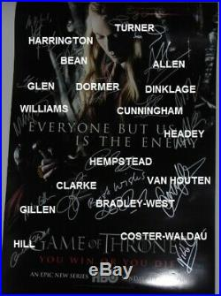 Game of Thrones Signed Cast Poster Framed With COA Original Signatures