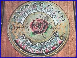 Grateful Dead Band Autographed American Beauty LP Vinyl With COA