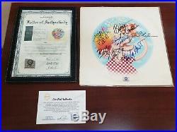 Grateful Dead Europe 72 Album Lp Autographed By Band With Coa