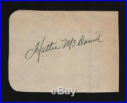HATTIE MCDANIEL Hand Signed Autographed Clip withCOA GONE WITH THE WIND
