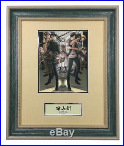 Hajime Isayama Attack on Titan hand signed autograph photo with coa