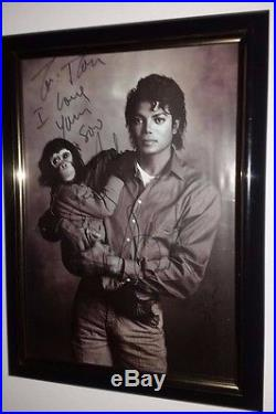 Hand Signed By Michael Jackson Rare 8x10 Photo With Bubbles Autographed With Coa
