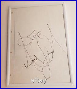 Hand Signed By Michael Jackson With Coa A4 Page Love Original Autographed
