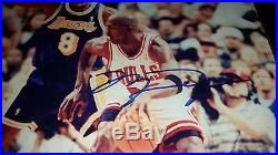 Hand Signed Michael Jordan And Kobe Bryant 8x10 With Coa Framed Autographed