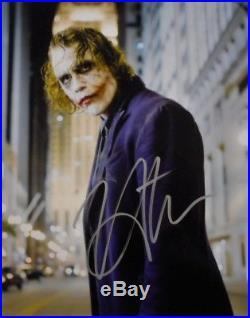 Heath Ledger The Joker Amazing Pose Hand Signed Autographed Photo With Coa