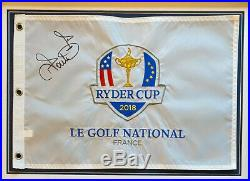 Ian Poulter SIGNED & Framed Ryder Cup PIN FLAG 2018 With PROOF AFTAL COA (WOF)