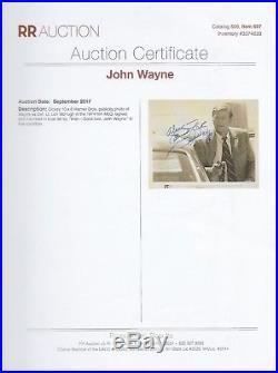 JOHN WAYNE autographed HAND SIGNED press-kit 8x10 photo with CoA of RRAuction