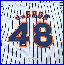 Jacob deGrom Autographed Signed Jersey with COA New York Mets