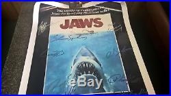 Jaws Poster Signed By 10! Very Limited! Comes With Coa From Smithson's Autograph