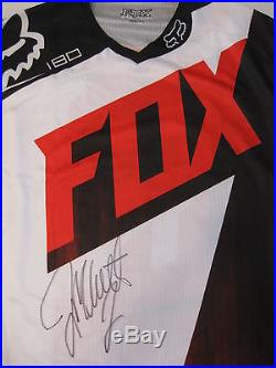 Jeremy Mcgrath, Supercross, Motocross, Signed, Autographed, Fox Jersey, Coa, With Proof