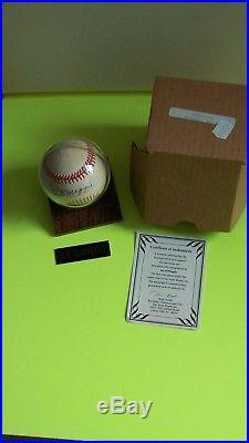 Joe DiMaggio Autographed Baseball with Holder & COA
