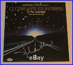 John Williams signed album close encounters of the third kind with psa dna coa