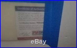 Johnny Cash Autograph Mounted with Photo Framed 21x27 PSA COA