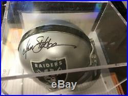 KEN STABLER Autographed Mini Helmet with COA Oakland Raiders