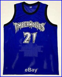 KEVIN GARNETT AUTOGRAPHED TIMBERWOLVES STAT JERSEY with PSA ITP COA #8A31243