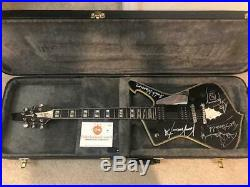 KISS Paul Stanley Autographed Guitar with Ace & Vinny signatures PICS OF ALL COA