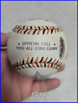 Kirby Puckett Autographed 1993 All Star Baseball with COA Minnesota Twins HOF
