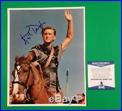 Kirk Douglas Signed 8x10 Spartacus Color Photo Certified With Bas Beckett Coa