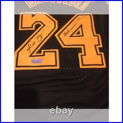 Kobe Bryant Autographed La Lakers Soul Swingman Black Mamba Jersey With Coa