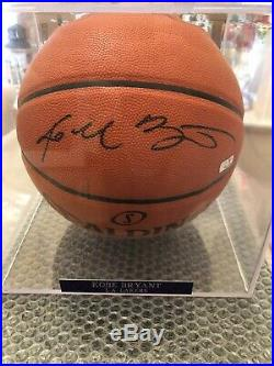 Kobe Bryant Lakers Signed Basketball with Panini COA Bold Autograph