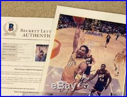Kobe Bryant Signed 8x10 Autograph Photo with Beckett Full Letter COA 2012 & 8