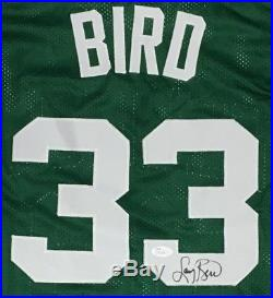 LARRY BIRD AUTOGRAPHED CELTICS JERSEY with JSA COA #T01007