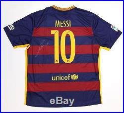 LIONEL MESSI Hand Signed FC Barcelona #10 Jersey with COA Signature Autograph