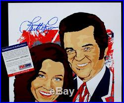 LORETTA LYNN Concert Poster SIGNED AUTOGRAPH Conway Twitty with PSA/DNA COA
