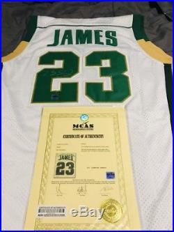 wholesale dealer a100c 9bebf Autographs With Coa | Lebron James Autograph high School ...