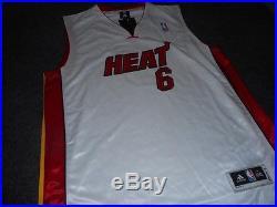 Lebron James signed NBA Basketball Jersey Heat 100% sewn Autographed with COA