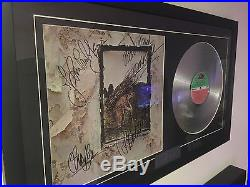 Led Zeppelin #4 Autograph LP Cover And Platinum Record With COA
