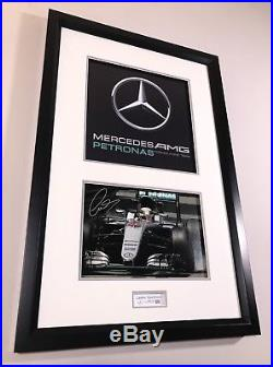 Lewis Hamilton Limited Edition Mercedes F1 Framed Hand Signed with COA