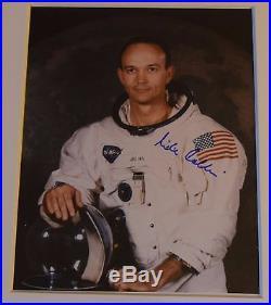 MICHAEL COLLINS APOLLO 11 NASA HAND SIGNED PHOTO WITH 2 COAs
