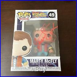 MICHAEL J FOX Signed MARTY MCFLY Funko Pop With COA