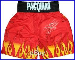 Manny Pacquiao Signed Boxing Trunks With Proof & Coa