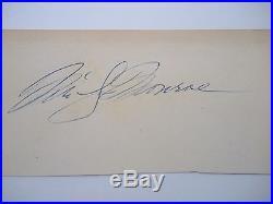Marilyn Monroe Autograph. With Coa