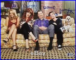 Married With Children Cast 4 Ed ONeill Sagal Applegate Signed 8X10 Photo BAS COA