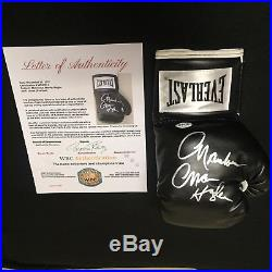 Marvelous Marvin Hagler Signed Everlast Boxing Glove with LOA from the WBC COA