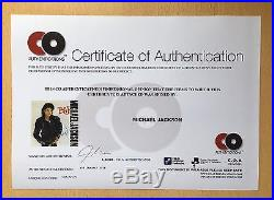 Michael Jackson BAD VINYL SLEEVE ALBUM Autographed SIGNED with COA
