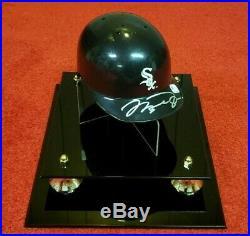 Michael Jordan Autographed White Sox Mini Batting Helmet Signed With Gai Coa