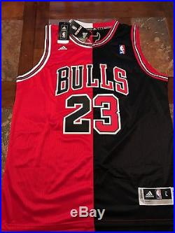 Michael Jordan Autographed two tone swingman jersey with COA