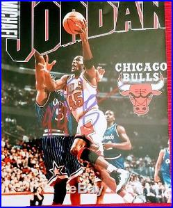 Michael Jordan Chicago Bulls Autographed picture with COA