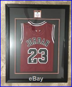 9c61b44ae39 Autographs With Coa   Michael Jordan Red autographed jersey, Framed ...
