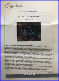 Michael jackson autograph original With COA