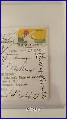 Mickey Mantle Autograph With 15 HOF Mays Dimaggio Spahn Killebrew Koufax PSA COA